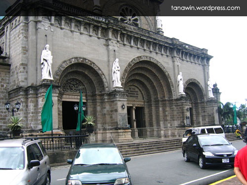 The Manila Metropolitan Cathedral (Photo taken on September 27, 2008)